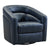 Contemporary Swivel Accent Chair in Genuine Leather image 1