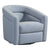 Contemporary Swivel Accent Chair in Genuine Leather image 2