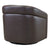 Contemporary Swivel Accent Chair in Genuine Leather image 15