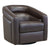 Contemporary Swivel Accent Chair in Genuine Leather image 3