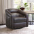Contemporary Swivel Accent Chair in Genuine Leather image 21