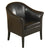 Marcus Brown Leather Club Chair
