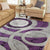 Live setting for the Holt Purple Area Rug