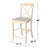 Dondi Counter & Bar Height Stool - Ready To Finish image 7