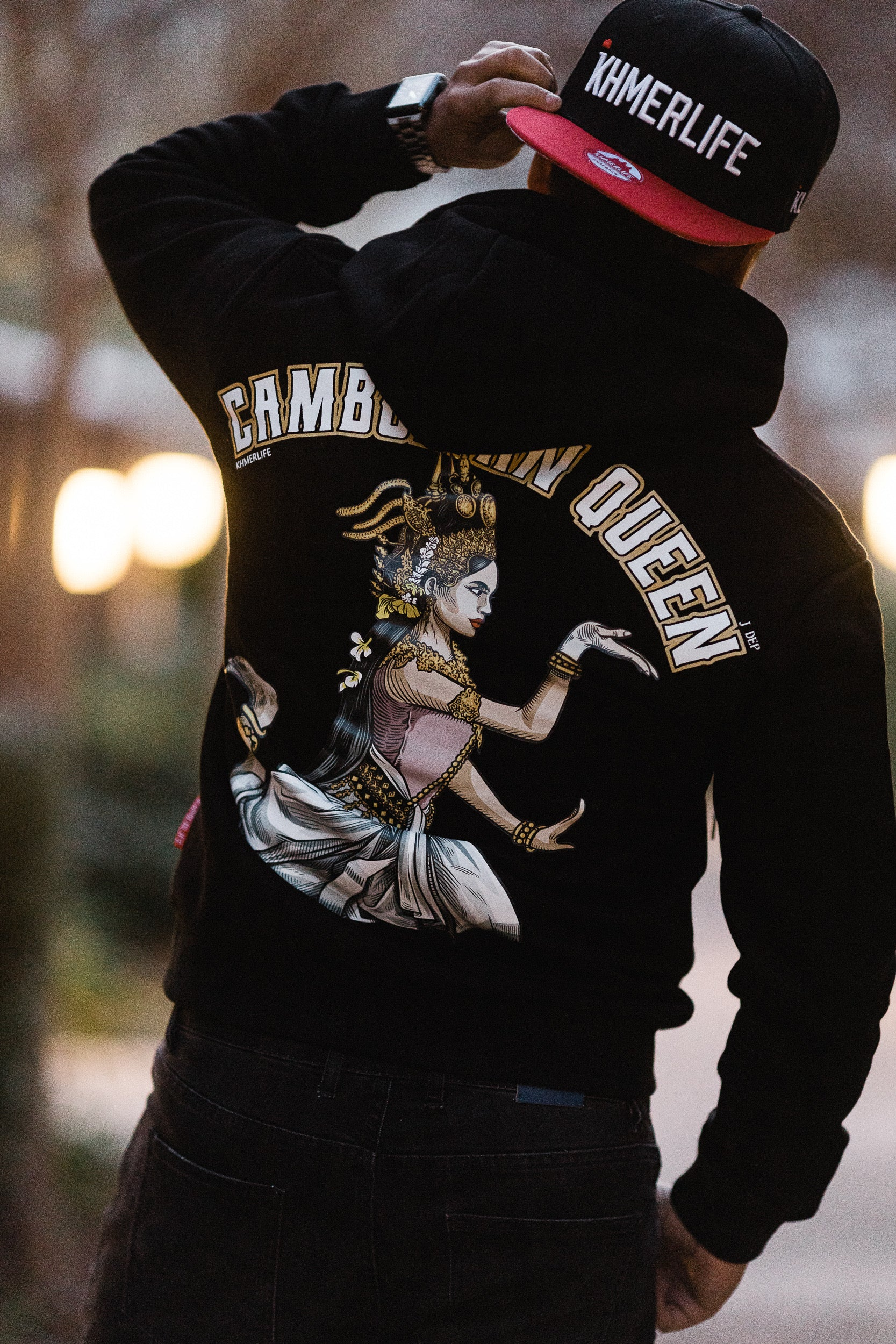 Fitted Hoodie – Cambodian Queen – J Dep