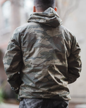 Khmerlife Nylon Water Resistant Windbreaker Anorak Jacket