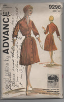Advance 9296 vintage 1959 designer Edith Head dress sewing pattern
