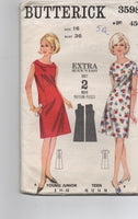 Butterick 3598 vintage 1960s dress pattern