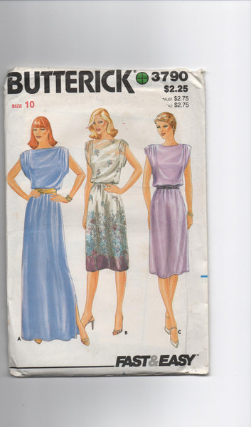 Butterick 3790 vintage 1970s  dress pattern