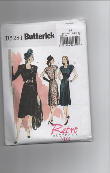 Butterick B5281 Reissued vintage 1946 sewing pattern