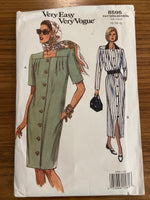 Vogue 8595 vintage 1990s dress sewing pattern