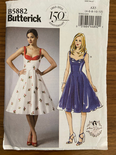 Butterick B5882 vintage style sewing pattern