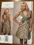 Vogue V1158 2010 designer Tracy Reese dress sewing pattern