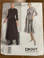 Vogue V2871 designer DKNY Vogue American Designer Jacket and skirt sewing pattern