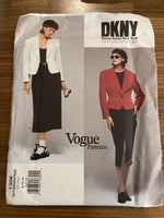 Vogue 1306 DKNY 1990s jacket and skirt sewing pattern