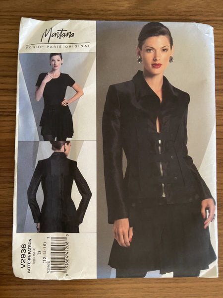 Vogue V2396 Montana Vogue Paris Original Jacket and skirt sewing pattern