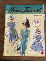 Australian home journal November 1963 with three sewing patterns, unused, factory folded two dresses and a girl's dress #2