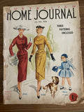 Australian home journal June 1956 with three sewing patterns, unused, factory folded two dresses and a girl's coat