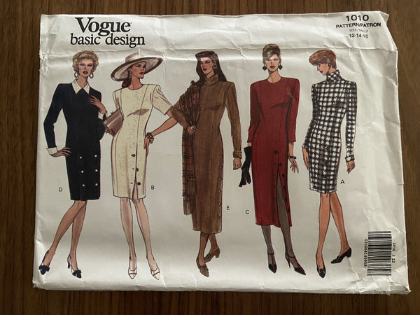 Vogue 1010 vintage 1990s dress sewing pattern