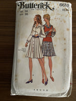 Butterick 6610 vintage 1970s  dress pattern