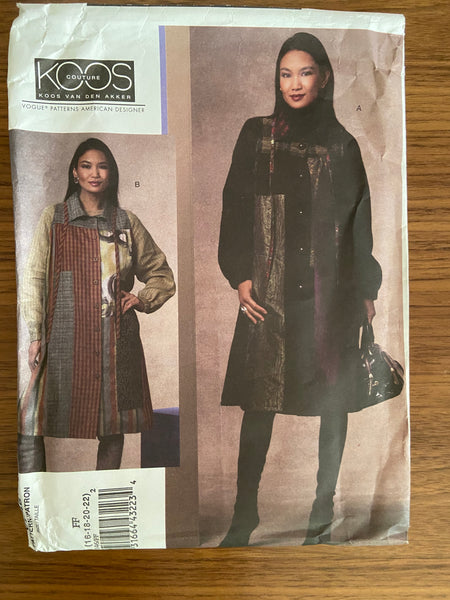 Vogue V1146 designer Koos Van Den Akker Vogue American Designer coat sewing pattern