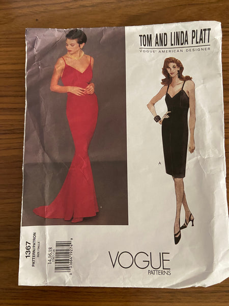 Vogue 1367 American Designer Tom and Linda Platt cocktail and evening dress sewing pattern