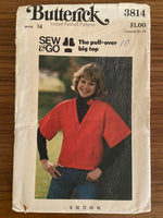 Butterick 3814 vintage 1970s pullover pattern