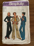 Simplicity 6617 vintage 1970s young girl's shirt-jacket and pants pattern