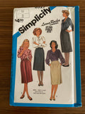 Simplicity 6527 vintage 1980s skirt sewing pattern