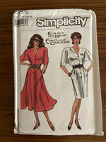 Simplicity 8566 vintage 1980s dress sewing pattern