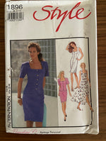 Style 1896 vintage 1990s dress, top and skirt sewing pattern