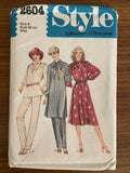 Style 2604 vintage 1970s  dress, pants and top pattern