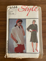 Style 4734 vintage 1970s dress and top sewing pattern