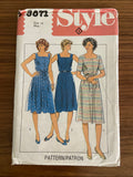 Style 3871 vintage 1980s dress sewing pattern