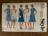 Simplicity 1925 vintage 1980s dress sewing pattern