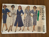 Butterick 6698 vintage 1990s dress sewing pattern