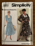 Simplicity 7371 Damon Dress vintage 1990s two-piece dress sewing pattern