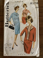 Butterick 2178 vintage 1960s suit co-ordinates sewing pattern