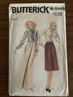 Butterick 3322 vintage 1980s skirt sewing pattern