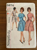 Simplicity 5874 vintage 1960s dress sewing pattern