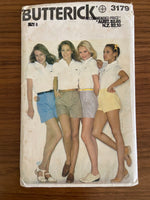 Butterick 3179 vintage 1970s shorts pattern