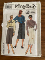 simplicity 9370 vintage 1980s skirt sewing pattern