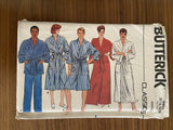 Butterick 6968 vintage 1980s unisex robe and pants pattern sewing pattern