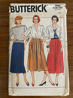 Butterick 6960 vintage 1980s skirt sewing pattern