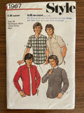 Style 1967 vintage 1980s men's shirts pattern