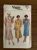 Vogue 9211 vintage 1980s dress pattern