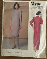 Vintage 1225 vogue American Designer John Anthony dress pattern