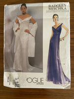 Vogue 2132 Vogue American Designer Badgley Mischka evening or wedding dress pattern