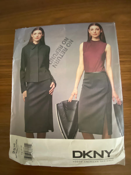 Vogue 2576 designer DKNY Vogue American Designer Jacket and skirt sewing pattern