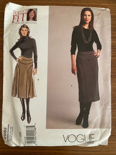 Vogue V1082 2008 Sandra Betzina today's fit skirt pattern